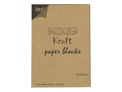 Sada jednobarevných papírů Mixed Kraft A6 60listů