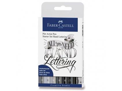 Pitt Artist Pen Hand Lettering set pro začátečníky Faber-Castell – 9 ks