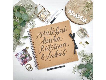 Svatební kniha – ručně nadepsaná