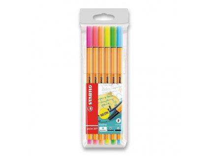 STABILO® Point 88 - Sada 6 NEON barev