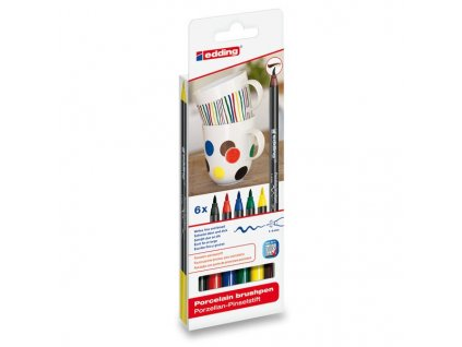 Edding Porcelain Brush pen – Primary 6 Ks