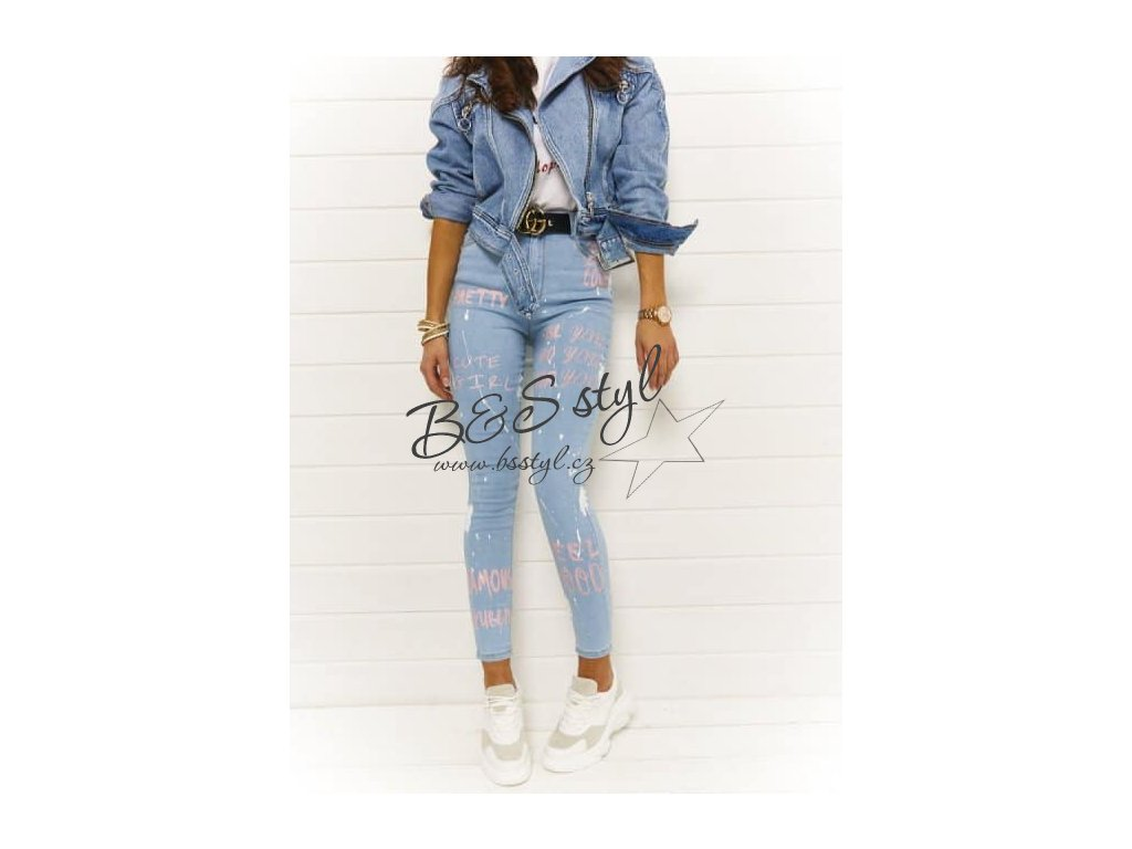 jeans pastel pink