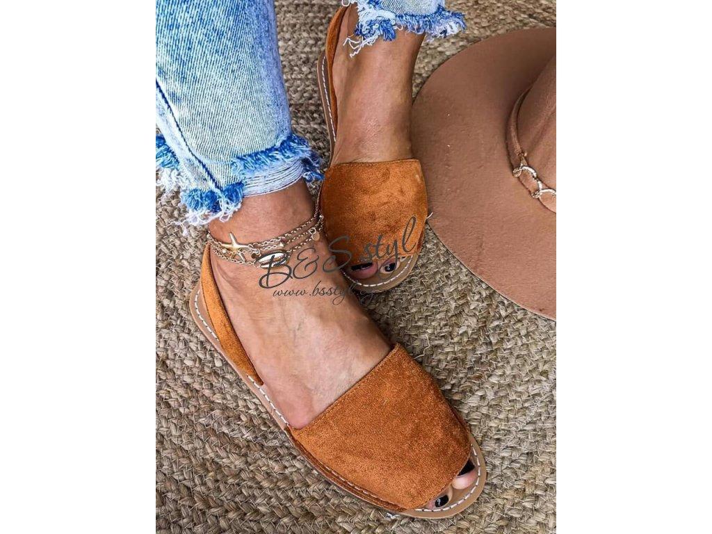 sandalky boho kamel
