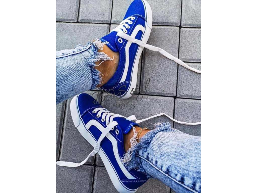 tenisky long modre