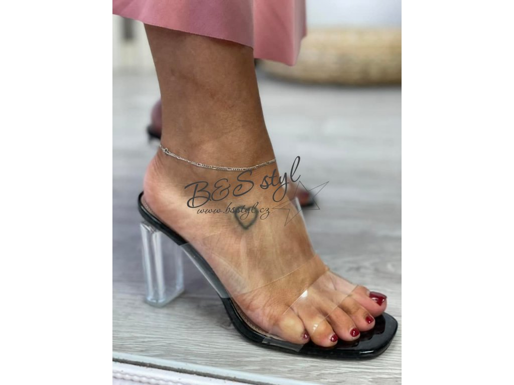 pantofle transparent
