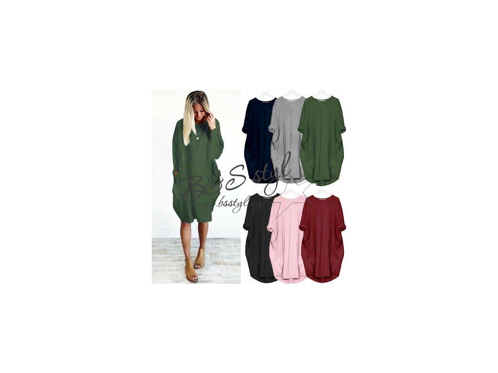UK Womens Pocket Long Sleeve Loose Oversized Casual