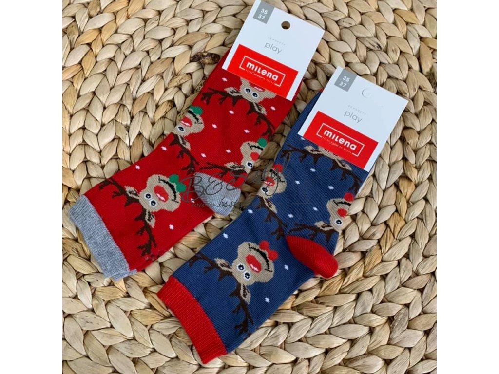 Dětské/ Dámské ponožky sobíci maxi