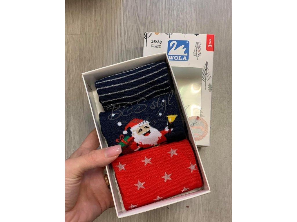 3pack ponožky santa darky