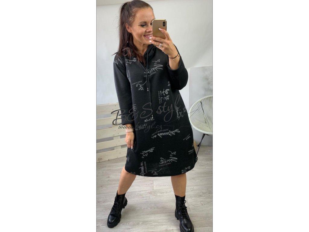 šaty simple cerne