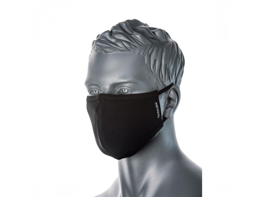 Portwest CV22 2-vrstvá rouška na obličej - černá