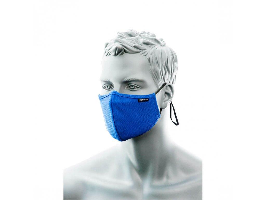 Portwest 2-vrtsvá antimikrobiální rouška CV34 - modrá