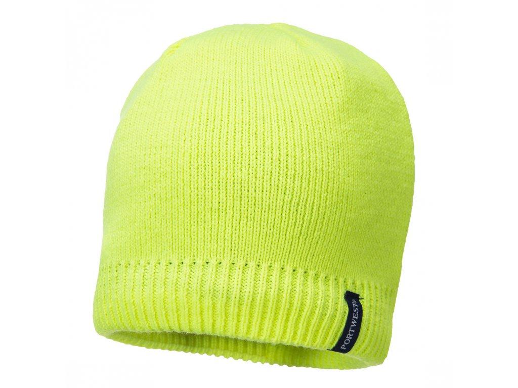 B031 Nepromokavá čepice - žlutá