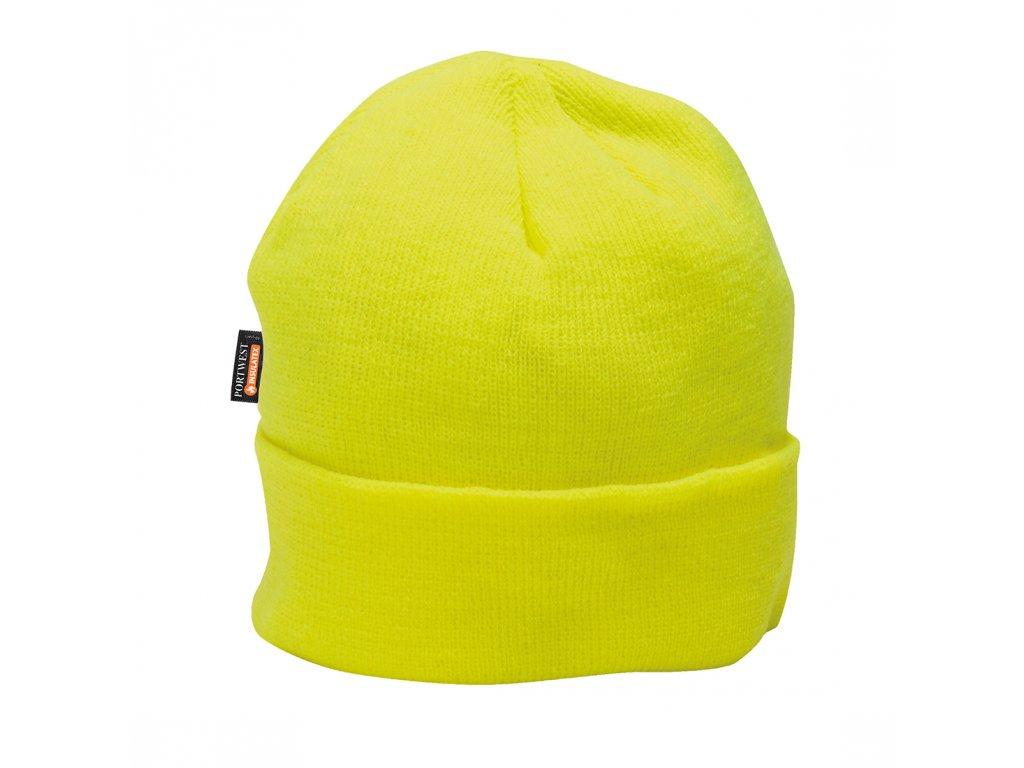 B013 Zateplená čepice Insulatex - žlutá