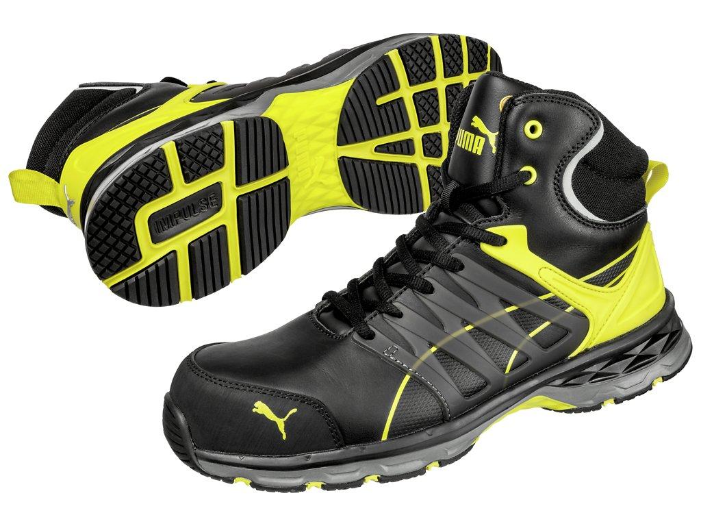 Bezpečnostní obuv Puma Velocity 2.0 Yellow Mid S3 ESD HRO SRC