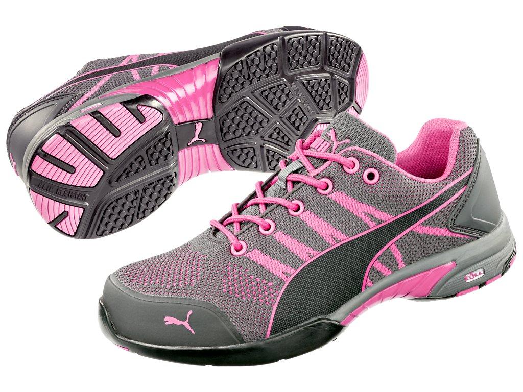 Dámská obuv Puma Celerity Knit Pink WNS Low S1 HRO SRC