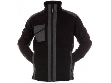 Fleeceová bunda Croft - černá/antracitová