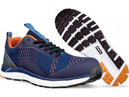 Bezpečnostní obuv AER55 Impulse Blue Orange Low S1P ESD HRO SRA