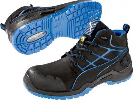 Bezpečnostní obuv Puma Krypton Blue Mid S3 ESD SRC