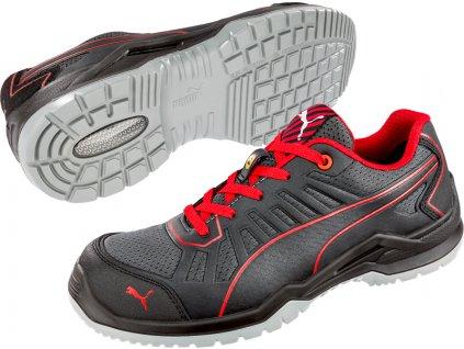 Bezpečnostní obuv Puma Fuse TC Red Low S1P ESD SRC