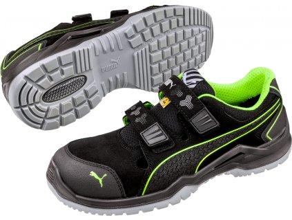Bezpečnostní sandál Puma Neodyme Green Low S1P ESD SRC