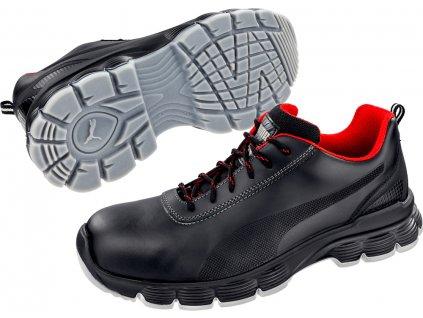 Bezpečnostní obuv Puma Condor Black Low S3 ESD SRC