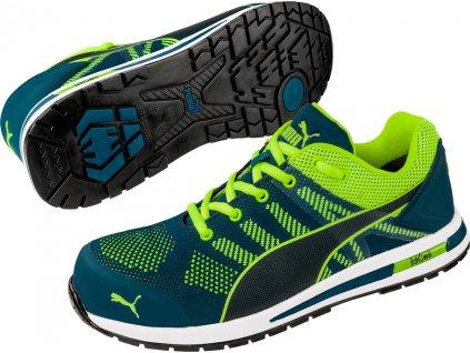 Bezpečnostní obuv Puma Elevate Knit Green Low S1P ESD HRO SRC