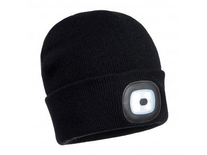 B029 Čepice s LED - černá