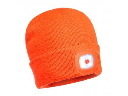 B029 Čepice s LED - oranžová
