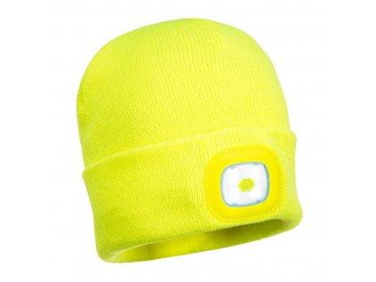 B029 Čepice s LED - žlutá