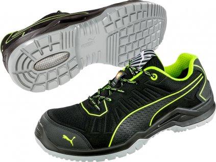 Bezpečnostní obuv Puma Fuse TC Green Low S1P ESD SRC