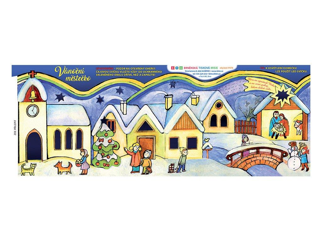 PX76 Vánoční městečko rozložené