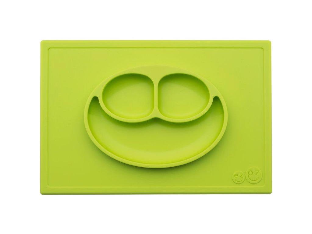 Silikónový tanier - Happy Mat - Lime
