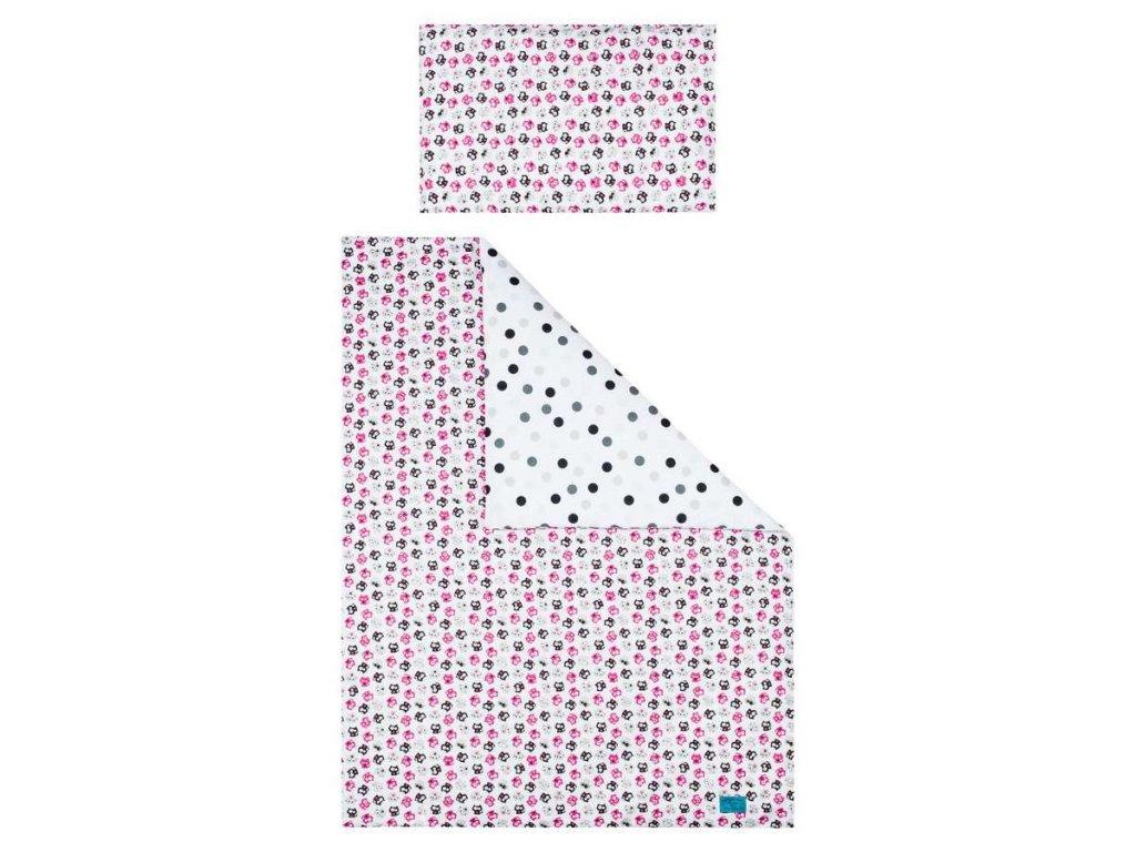 5-dielne posteľné obliečky Belisima Mačiatka 100/135 ružové