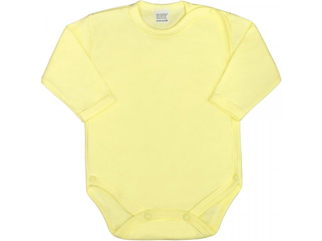 Dojčenské body celorozopínacie New Baby Classic žlté