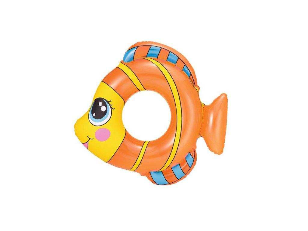 Detský nafukovací kruh Bestway v tvare rybky oranžový