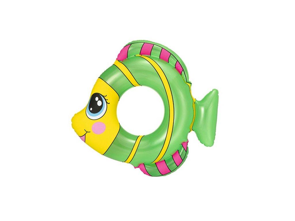 Detský nafukovací kruh Bestway v tvare rybky zelený
