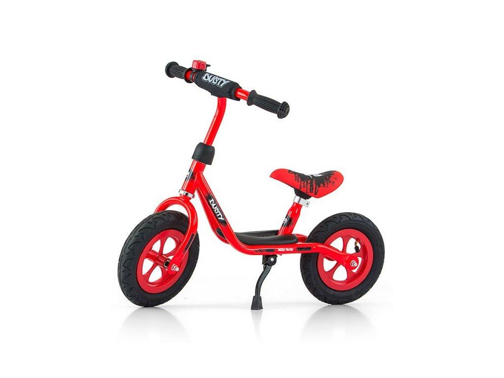 """Detské odrážadlo bicykel Milly Mally Dusty red 12"""""""