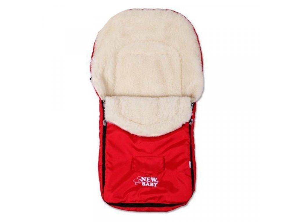 Zimný fusak New Baby Classic Wool red