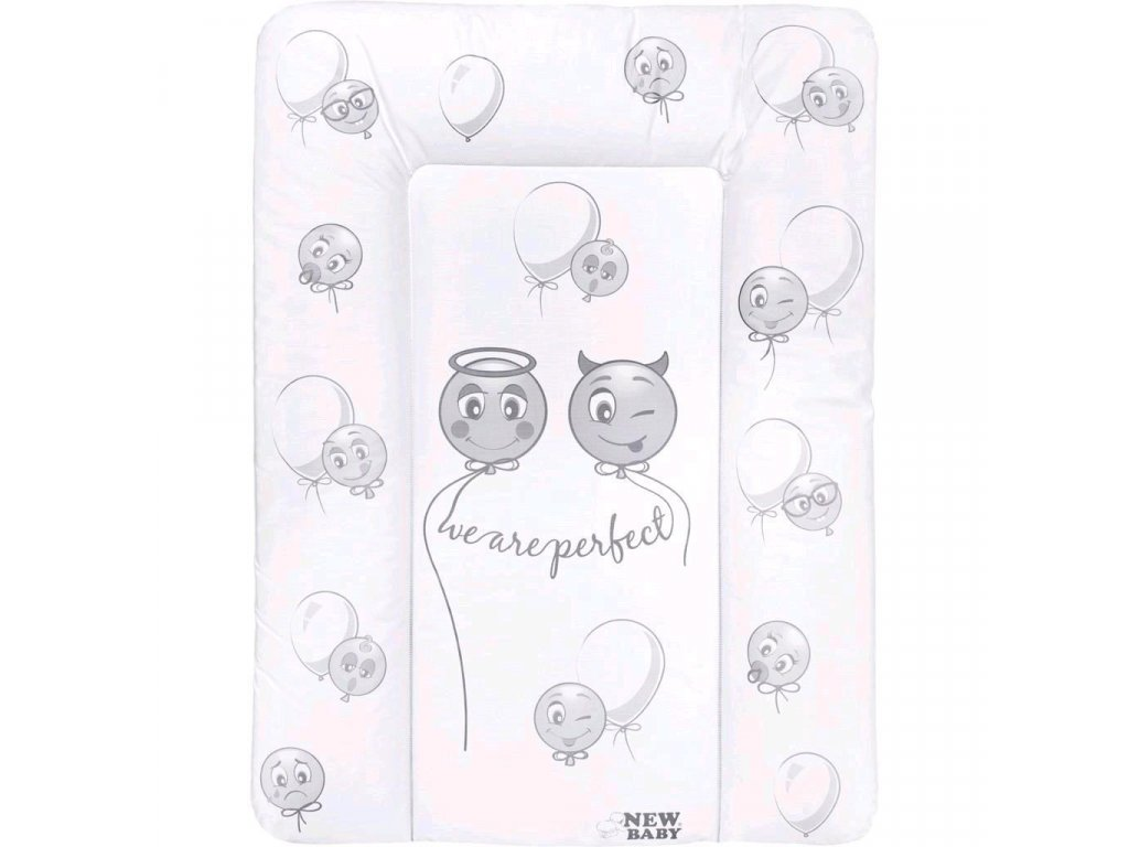 Prebaľovacia podložka mäkká New Baby Emotions biela 70x50cm