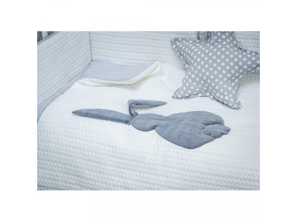 3-dielne posteľné obliečky Belisima Králiček 90/120 bielo-sivé