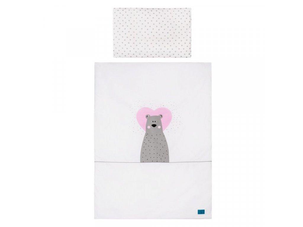 2-dielne posteľné obliečky Belisima Bear in love 90/120 ružové