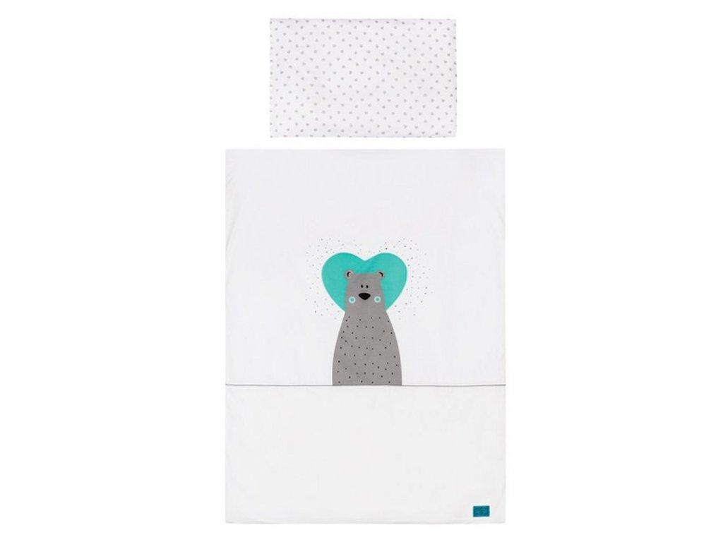 2-dielne posteľné obliečky Belisima Bear in love 90/120 tyrkysové