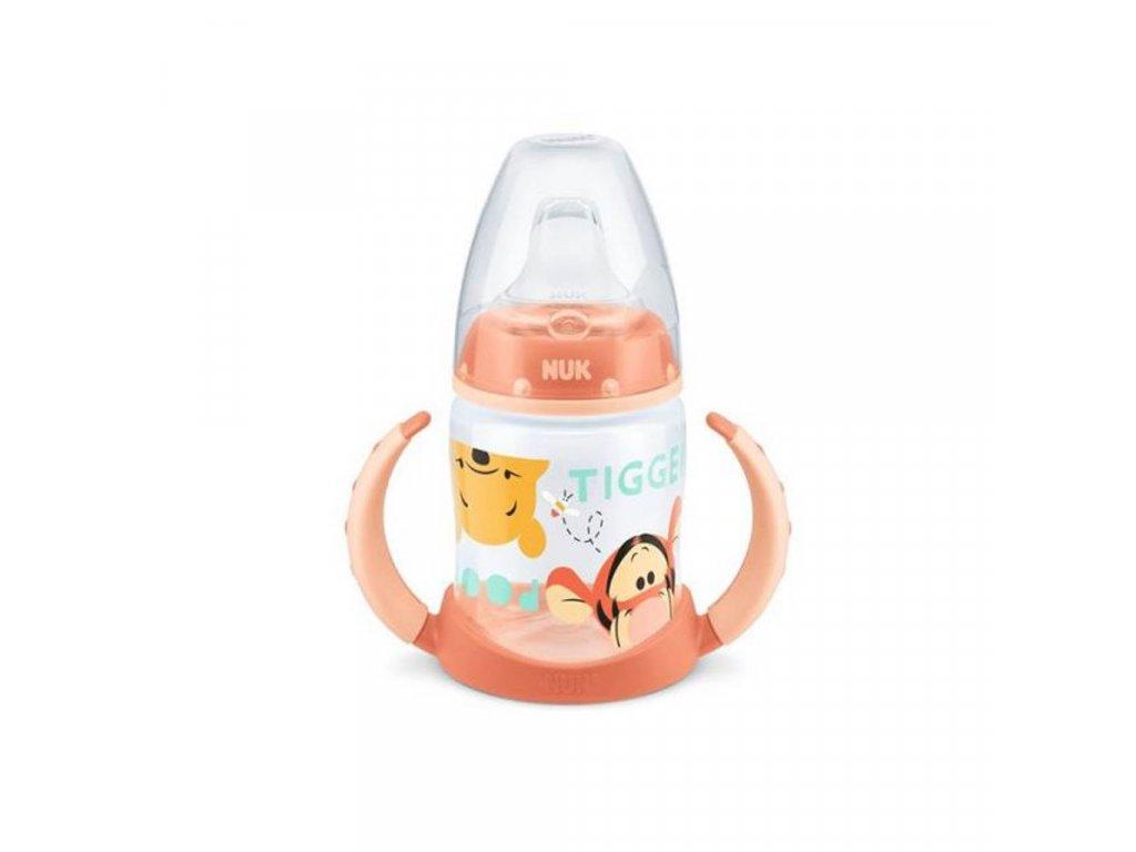 Dojčenská fľaša na učenie NUK 150 ml Disney Medvedík Pu oranžová