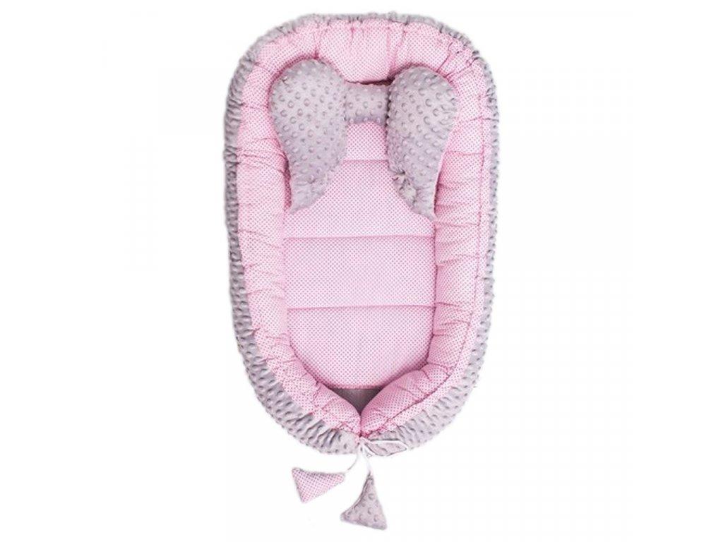Hniezdočko pre bábätko Minky Sweet Baby Belisima ružové