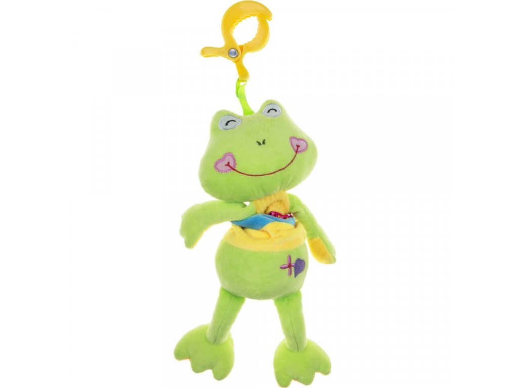 Plyšová hračka s hracím strojčekom žabka
