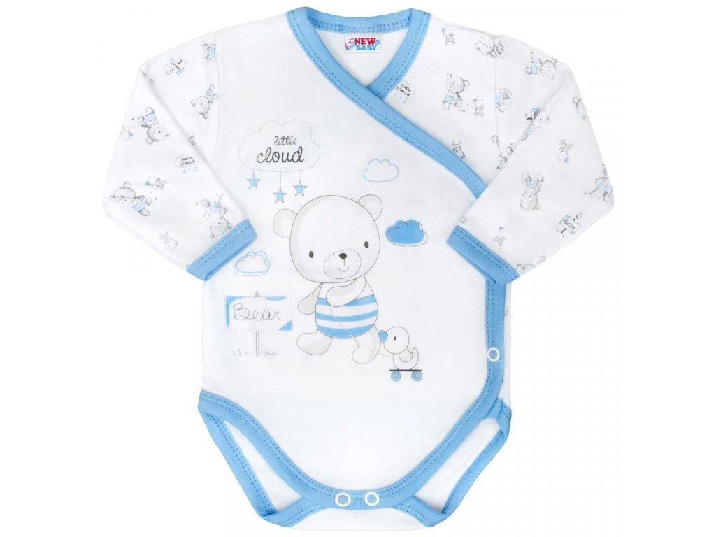 Dojčenské body s bočným zapínamím New Baby Bears modré