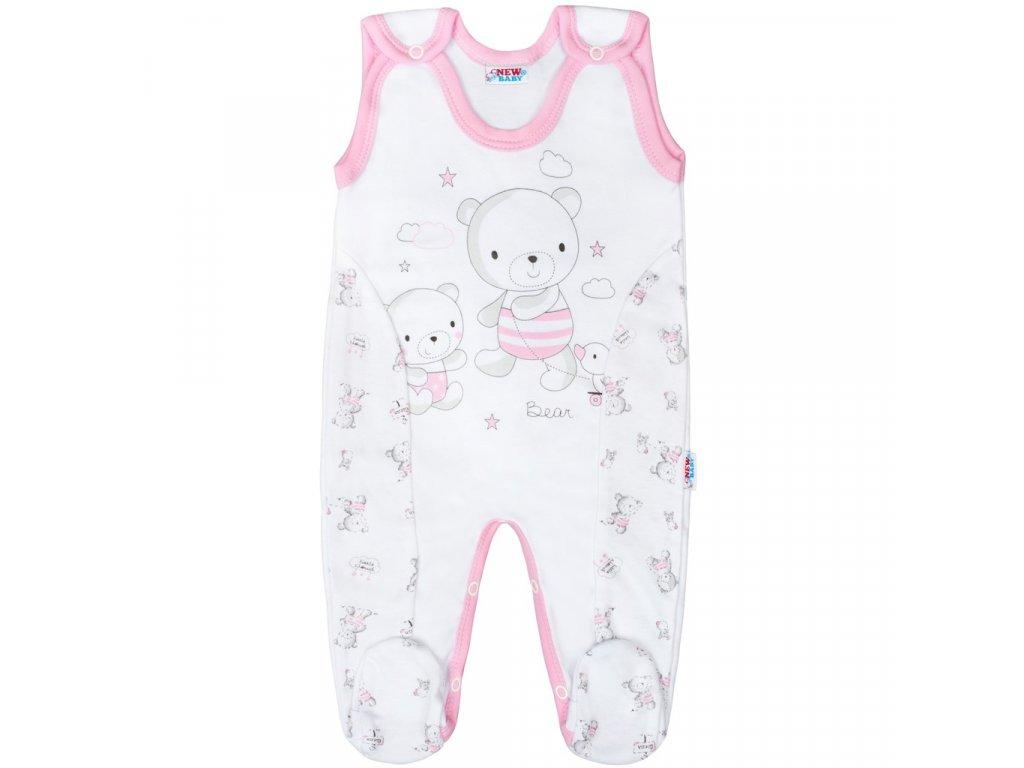 Dojčenské dupačky New Baby Bears ružové