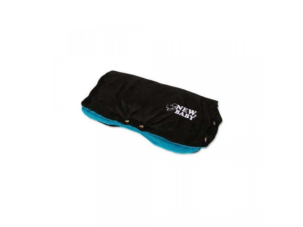 Rukávnik na kočík Classic Fleece black/blue