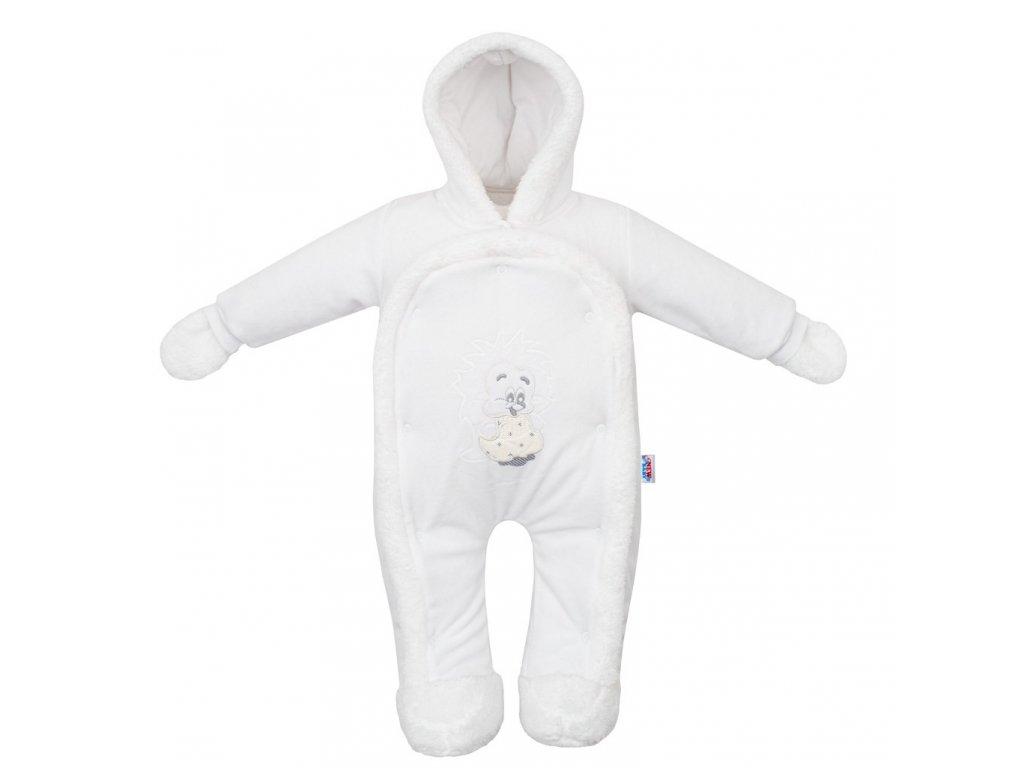 Detská kombinéza New Baby ježko biela
