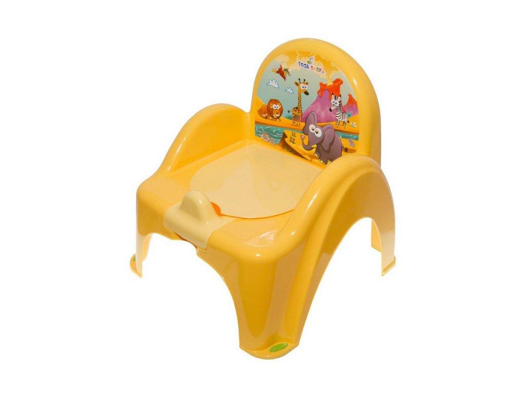 Detský nočník s poklopom žltý safari